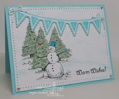Stamps - Our Daily Bread Designs Warm Wishes, Christmas Pennant Row, ODBD Custom Pennant Row Dies