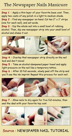 The Newspaper Nails Manicure