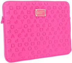 Marc Jacobs Flourescent Fuscia laptop cover