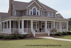 farmhouse exterior colors | Farmhouse Exterior design and Plan Layout.