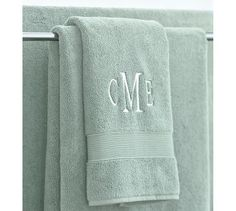 monogram bath towels