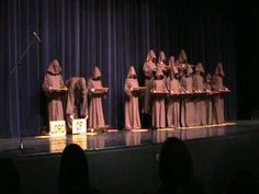 """This is brilliant!  A bunch of high school kids pretending to be """"silent monks"""".....""""singing"""" the Hallelujah Choir!"""