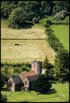 The little village of Compton Bishop, Somerset