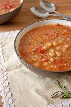 Chickpea, Quinoa, and Tomato Soup