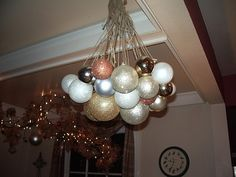 holiday, ornament chandeli, christma thing, crafti, decorating ideas, chandeliers, christma decor, balloon, ornaments