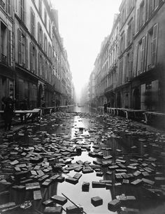 libraries, 1910, paris, flood, library books, book float, librari book, the great, photographi