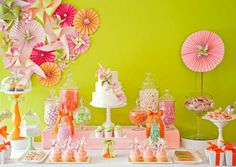 dessert tables, summer picnic, happy birthdays, color schemes, birthday parties, first birthdays, pinwheel, party tables, birthday ideas