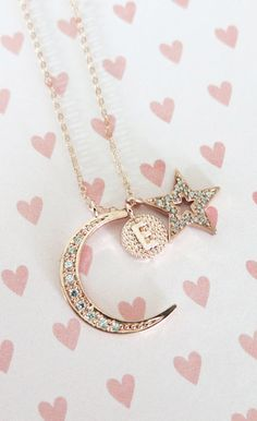 Love you to the Moon and Back necklace Cubic