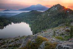 Castle Lake, Shasta  (Castle Lake to Heart Lake Hike) http://mountshastatrailassociation.org/trails/west-of-mt-shasta/castle-lake-to-heart-lake/