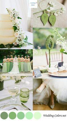 Shades of Green Wedding Palette