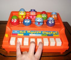Big Mouth Singers Weird 1970's Toy Piano by rockettaco on Etsy, $12.00
