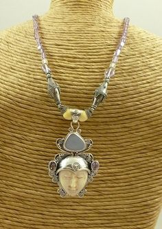 Sterling Silver Goddess Necklace by SmallWorldTreasures on Etsy, $160.00