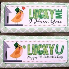 Free Printable St. Patrick's Day Candy Bar Wrappers