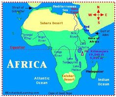 Enchantedlearning.com has maps of Africa, too...