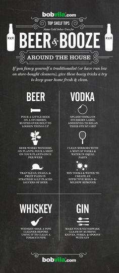 Home Uses for Alcohol—other the drinking it