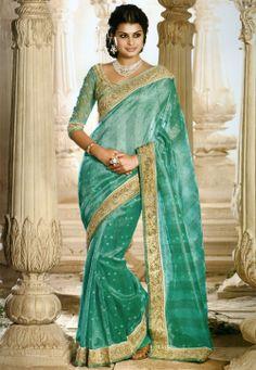 #Green Tisshu #Saree @ $81.00