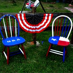 Feeling a lil festive today & painted these 2 chairs