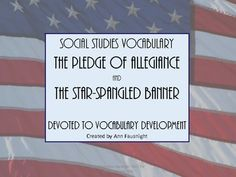$5.00 The activities and games in this packet help students learn and understand both the Pledge of Allegiance and the Star-Spangled Banner.