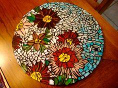 garden mosaic stepping stone