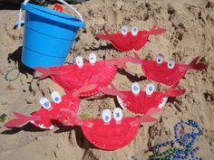 ocean theme preschool crafts, craft kids, crab craft preschool, classroom craft, preschool crab craft, sea
