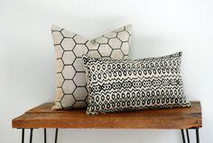 Natural Linen Throw Pillows / Vermont Home Design