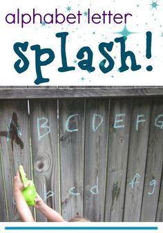 super fun and easy for kids--a perfect way to learn their letters in the summertime!
