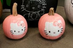 Hello Kitty No Carving Pumpkin for Halloween