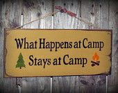 Wood Sign, What Happens At Camp Stays At Camp