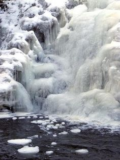 Frozen Purgatory Falls in New Hampshire  (1) From: NH Mountain Hiking, please visit
