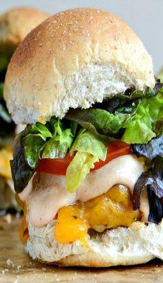 Roasted Jalapeno Cheddar Turkey Burgers with BBQ Aioli