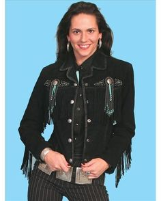 Women's Beaded Fringe Jacket