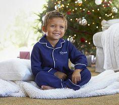 Navy Flannel Pajama #pbkids
