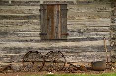 Settlers Cabin | Settlers Cabin Backyard Photograph