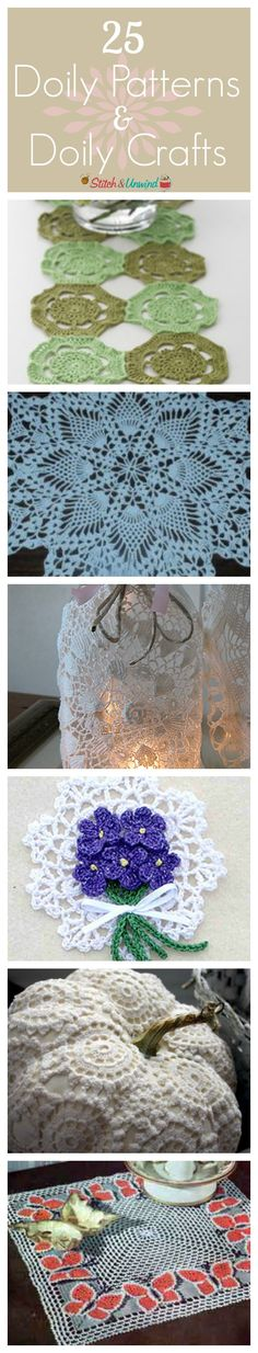 25 Doily Patterns and Doily Crafts - Delicate Doilies for every need!