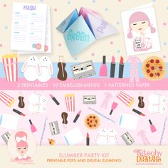 Printable Slumber Party kit - complete with Cootie Catchers and MASH cards! Perfect for your tween or teen! (or you ; )