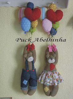 casal de ursos com balões | Flickr: Intercambio de fotos