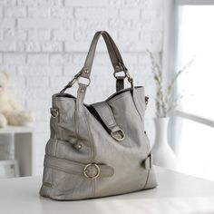 For the New Mom: Timi and Leslie Hannah Diaper Bag - Pewter from Hayneedle.