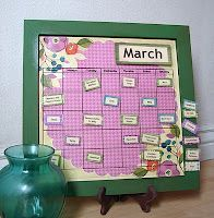 How to make a magnetic menu board!