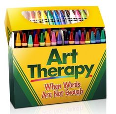 idea, art therapi, colors, boxes, coloring, arttherapi, counsel, stress relievers, art wall