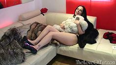Tiffany slips out of her tight lacy dress and lingerie and into these gorgeous furs, see what fun she has by joining us!