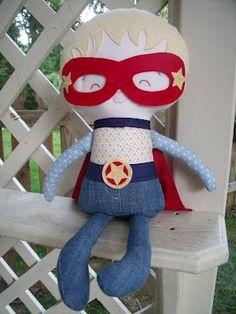 Superhero!! cloth doll Dandelion Wishes