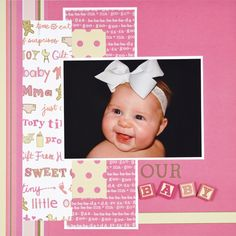 scrapbooking ideas | Papercrafting Ideas : Project Inspiration : Hobby Lobby - Hobby Lobby newborn pic, lobbi, babi scrapbook, paper, scrapbook idea, hobbi, scrapbook layout, baby scrapbook, scrapbook pages