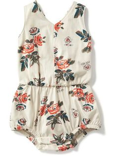 Floral Bubble One-Piece for Baby Product Image