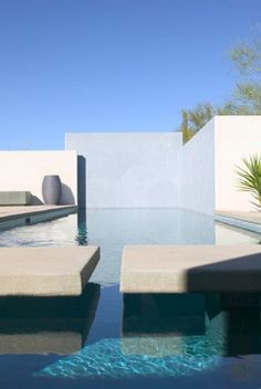Pool with white walls