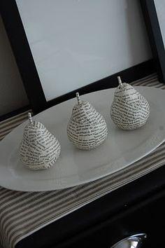 mod-podged pears