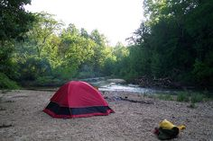 Current River camping  . . . . .