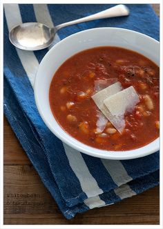 white bean & tomato soup plus other ideas for a simple and cheap lunch