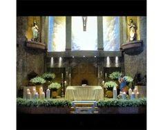 Flores para el altar / decoración para la iglesia / boda