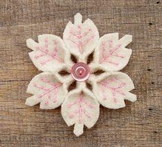 Handmade Mothers Day Craft, Ideas Felt  Flower