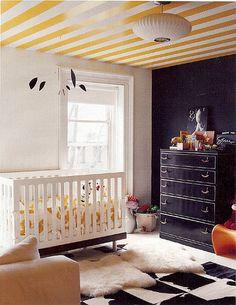 Yellow black white nursery